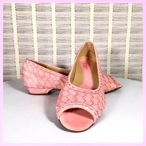 Trotters Pink Woven Flats